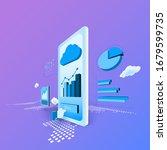 business finance bank service... | Shutterstock .eps vector #1679599735