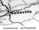 Belleville. Canada on a map