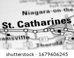 St. Catharines. Canada on a map