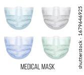 set of medical masks realistic... | Shutterstock .eps vector #1679646925