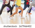 low section of fitness class... | Shutterstock . vector #167966402