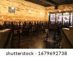 Empty Restaurant In Toronto...