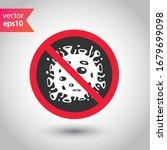 stop corona virus icon....   Shutterstock .eps vector #1679699098