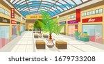 Shopping Mall Corridor With...