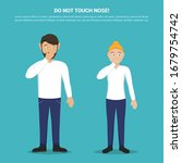 do not touch your nose with man ... | Shutterstock .eps vector #1679754742