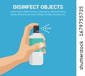 disinfect objects with spray... | Shutterstock .eps vector #1679755735