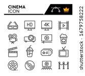 cinema line icons set. editable ...   Shutterstock .eps vector #1679758222