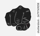 clenched fist  front view....   Shutterstock .eps vector #1679769058