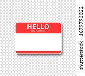 nametag vector sticker with... | Shutterstock .eps vector #1679793022
