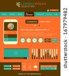 modern flat style ui interface...