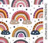 seamless pattern with beautiful ... | Shutterstock .eps vector #1679802442