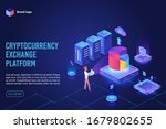 isometric cryptocurrency... | Shutterstock .eps vector #1679802655