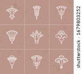 a set of vector logos egyptian... | Shutterstock .eps vector #1679803252