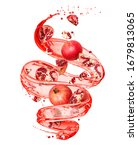 Pomegranate With Splashes Of...