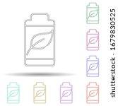 eco battery multi color icon....