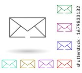 email multi color icon. simple...