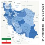 political map of iran blue...   Shutterstock .eps vector #1679834395
