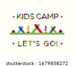 kids summer camp 2018 card with ...   Shutterstock . vector #1679858272