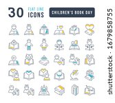 set vector line thin icons of... | Shutterstock .eps vector #1679858755