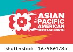 asian pacific american heritage ... | Shutterstock .eps vector #1679864785