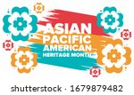 asian pacific american heritage ... | Shutterstock .eps vector #1679879482