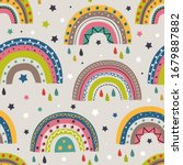 seamless pattern with colorful...   Shutterstock .eps vector #1679887882