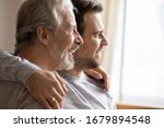 Close Up Of Elderly Father And...