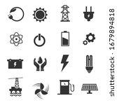 energy icon set.  electricity... | Shutterstock .eps vector #1679894818