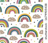 seamless pattern with colorful...   Shutterstock .eps vector #1679905438