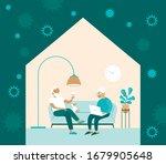stay home concept. coronavirus... | Shutterstock .eps vector #1679905648