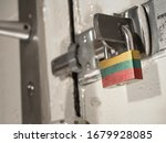 A Bolted Door Secured By A...