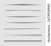 transparent paper sheet shadow...   Shutterstock .eps vector #1679928985