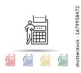business calculator multi color ...
