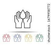 blood donation multi color icon....