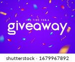 giveaway raffle day poster...   Shutterstock .eps vector #1679967892