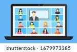 online class. stay school learn ... | Shutterstock .eps vector #1679973385
