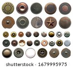 Set Of Different Metal Buttons...