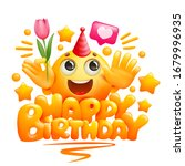happy birthday greeting card... | Shutterstock .eps vector #1679996935
