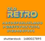 retro old  yellow font vintage... | Shutterstock .eps vector #1680027895