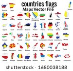 countries flags map  country...   Shutterstock .eps vector #1680038188