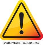 hazard sign icon vector triangle | Shutterstock .eps vector #1680058252