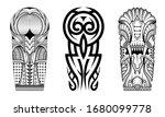 tattoo tribal abstract sleeve... | Shutterstock .eps vector #1680099778