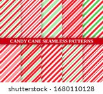 candy cane seamless pattern.... | Shutterstock .eps vector #1680110128