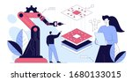 manager engineers check and... | Shutterstock .eps vector #1680133015