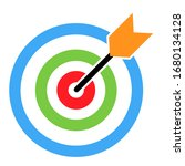 target icon with arrow symbol... | Shutterstock .eps vector #1680134128