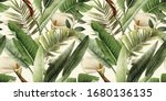 seamless floral pattern with... | Shutterstock . vector #1680136135