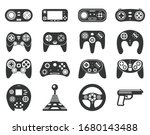 Black Game Console. Video Game...