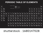 periodic table of the elements... | Shutterstock .eps vector #1680147028