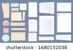 paper notes. copybook linear... | Shutterstock .eps vector #1680152038