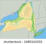 high detailed new york physical ... | Shutterstock .eps vector #1680161032